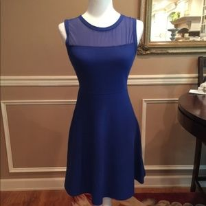 Illusion Neckline Fit and Flare Dress New - Size 4